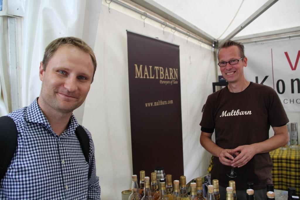 Daniel Lichota i właściciel Maltbarn Martin Diekmann