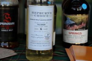 Talisker Trawa 6 yo. Whisky nie zdatna do degustowania.