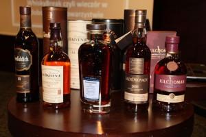 Zestaw degustacyjny na WhiskyBreak, który odbył się w grudniu.