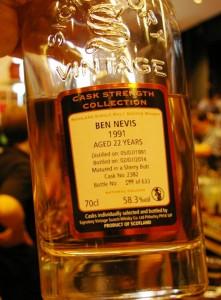 Ben Nevis 22 yo 58,3% Signatory - Limburg 2015