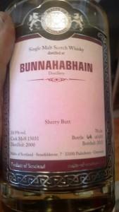 Bunnahabhain  15 yo 50,9% Malts of Scotland - Limburg 2015