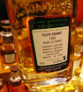 Glen Grant  22 yo 51,8% Signatory - Limburg 2015