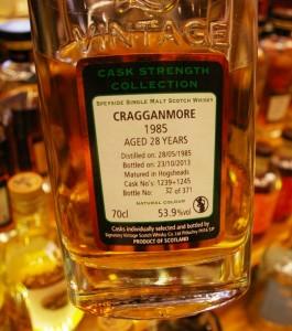 Craganmore  28 yo 53,9% Signatory  - Limburg 2015