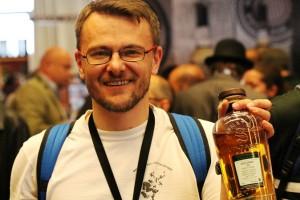 Autor na festiwalu w Limburgu 2015 z ...najniżej ocenianą whisky w przeglądzie. Uśmiech spory bo jeszcze o tym nie wiedziałem :)