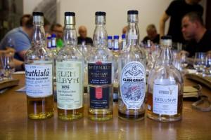 Zestaw na degustacji G&M - WhiskyTour 2015