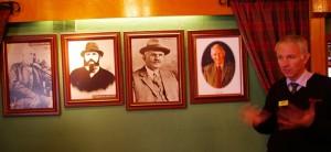 Destylarnia Glenfarclas i obrazy 4 pokoleń rodziny Grantsów - 5 zdjęcie to będzie na pewno kobieta bo synów brak :)
