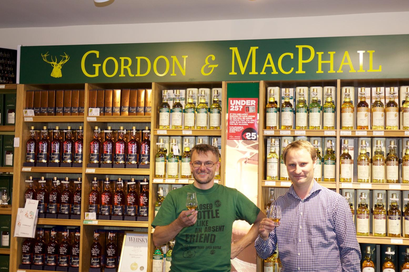 Grzegorz i Daniel w G&M w trakcie WhiskyTour 2015