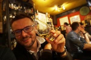 Grzegorz Nowicki w trakcie degustacji Laphroaig. Pytanie gdzie? :)