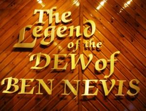 Destylarnia Ben Nevis i ściana poświęcona Legendzie...