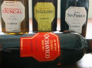 Degustowane sherry - zdjęcie bez Pedro Ximenez