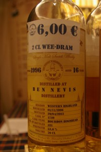Ben Nevis 16 lat 53,6% The Whisky Warehouse No. 8