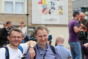 Grzegorz i Daniel w Limburgu - tam wybraliśmy większość whisky do degustacji
