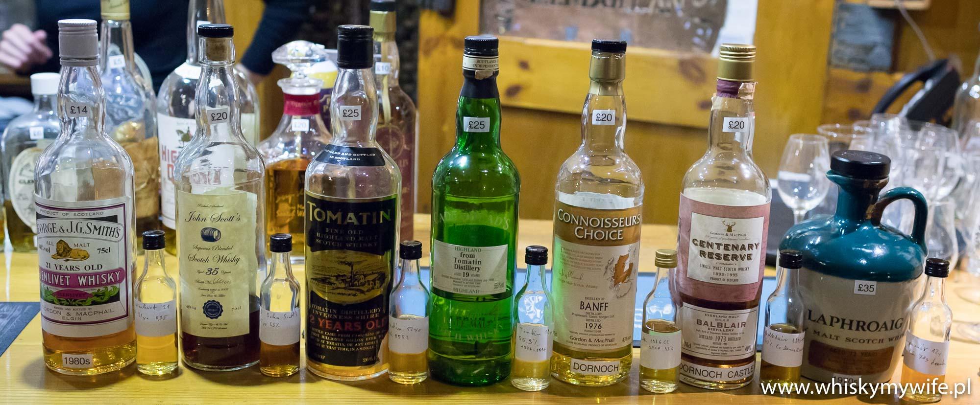 Godziwe whisky w dobrych cenach. Dornoch Whisky Bar.